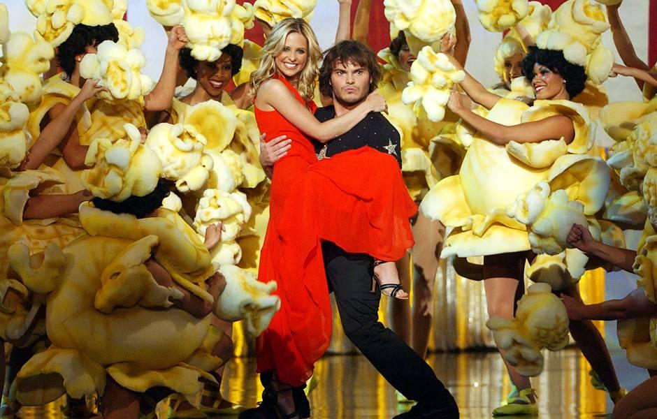 Movie & TV Awards 2002 | Host Sarah Michelle Gellar & Jack Black | 940x600