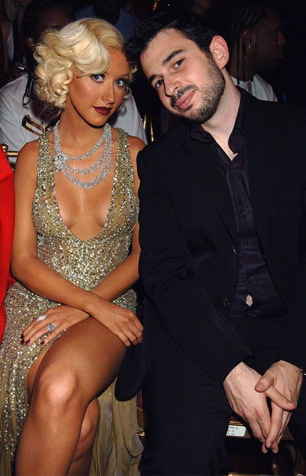 Christina Aguilera and Jordan Bratman at the 2006 VMAs.