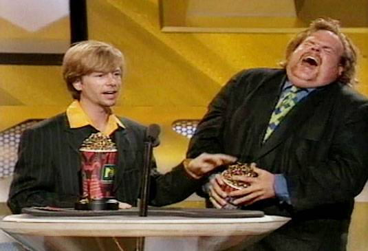 Movie & TV Awards 1996 | Best Duos Mel David Spade/Chris Farley | 535x365
