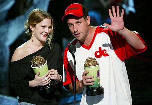 Movie & TV Awards 2004 | Best Duos Drew Barrymore/Adam Sandler | 527x365