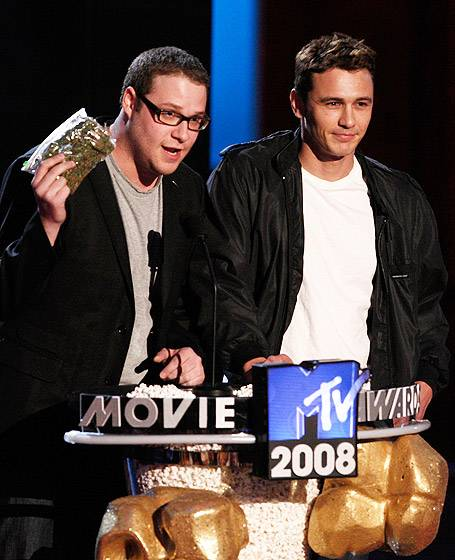 Movie & TV Awards 2008 | Best Duos Seth Rogen/James Franco | 455x560