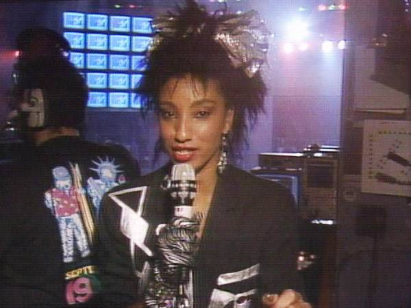 """MTV's own """"Downtown"""" Julie Brown hosted the 1986 VMAs along with other VJs from New York, Los Angeles, London, Miami and New Haven, Connecticut for a coast-to-coast celebration. (MTV)"""