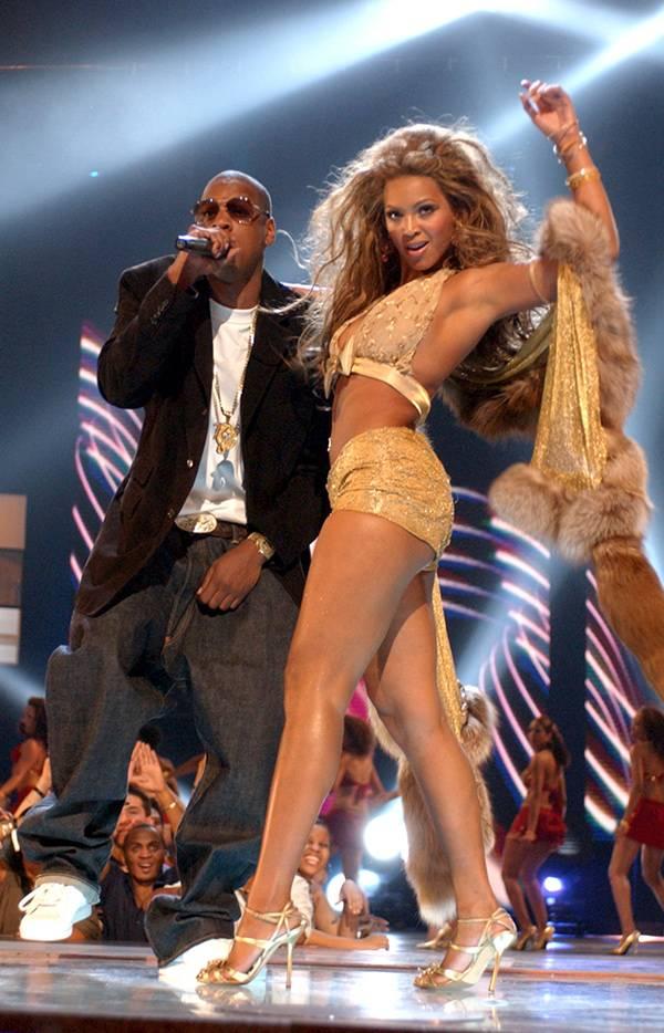 Jay-Z and Beyonce at the 2003 VMAs.
