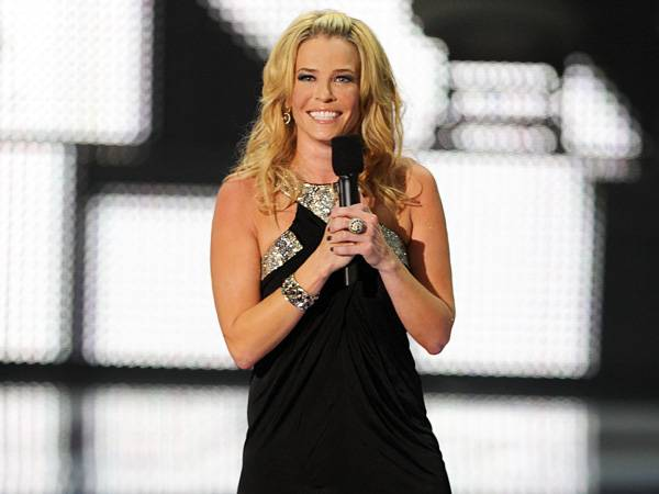 Between ass-smacks from Lindsay Lohan and a surprise pregnancy in the 'Jersey Shore' jacuzzi, comedienne and 2010 host Chelsea Handler kept the laughs rolling all night long with her usual inappropriate humor. (Getty Images)