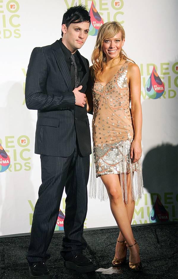 Joel Madden and Hilary Duff at the 2005 VMAs.