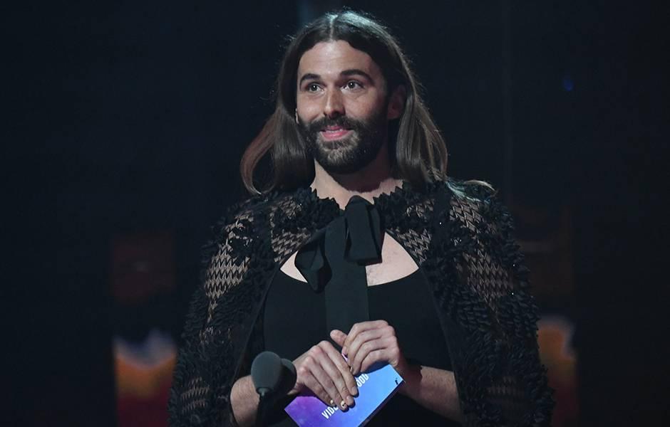 Jonathan Van Ness presents onstage at the 2019 VMAs.