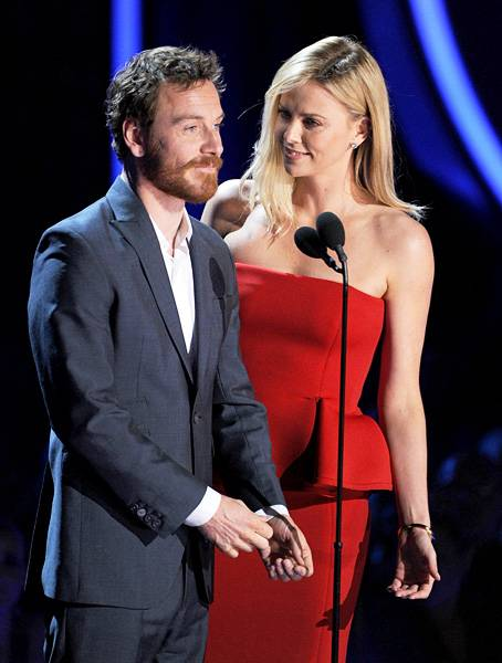 Movie & TV Awards 2012 | Best Duos Charlize Theron/Michael Fassbender | 454x600
