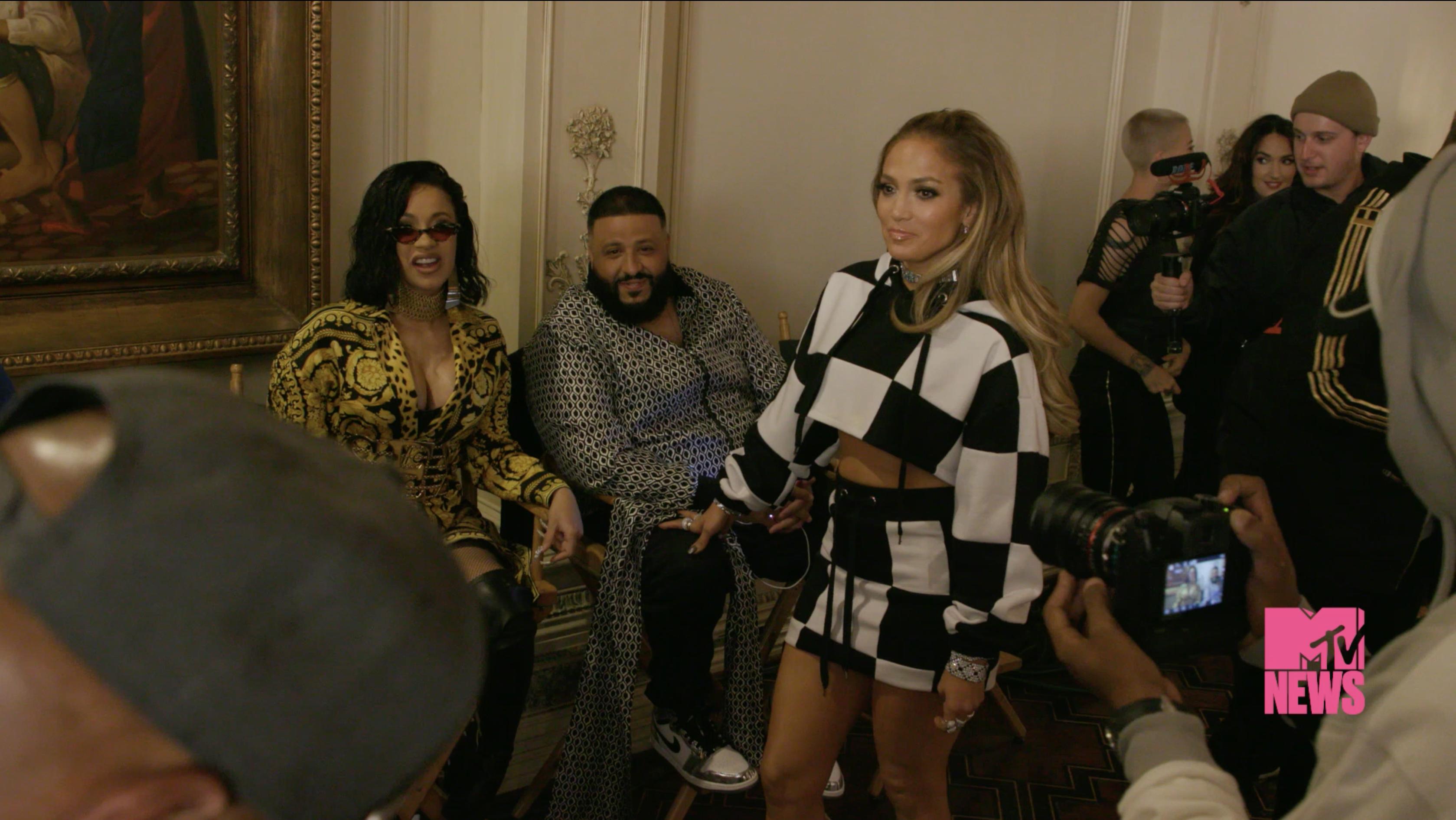 Jennifer Lopez And DJ Khaled On The Set Of