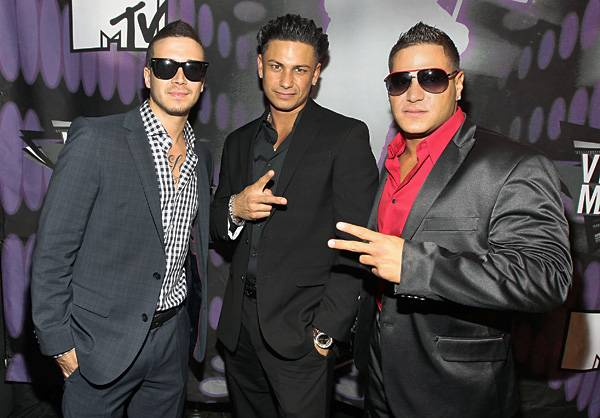 Fresh to death and straight from the East Coast, 'Jersey Shore' hotties Vinny, Pauly D and Ronnie clean up nicely at the 2011 show.