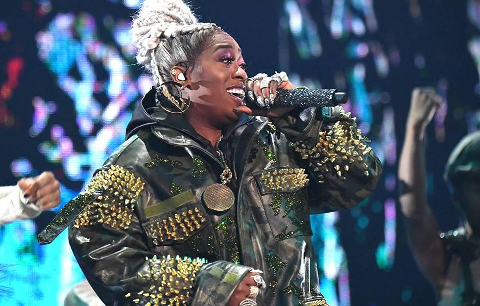 Missy Elliott is all smiles at the 2019 VMAs.