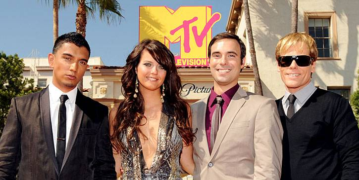 The MTV News team sure does clean up well. They're red carpet ready for the 2008 MTV Video Music Awards.