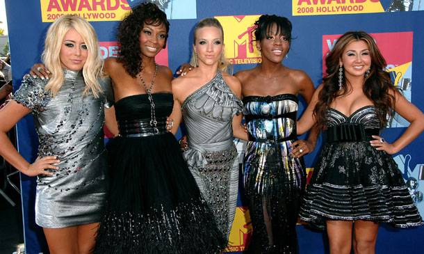 Singing group Danity Kane of 'Making The Band' is in sync from head to toe at the 2008 MTV Video Music Awards.