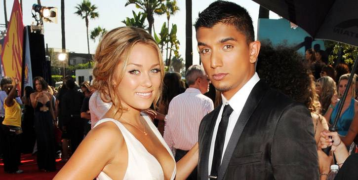 Lauren Conrad of 'The Hills' and MTV News' Tim Kash show off their fresh faces at the 2008 MTV Video Music Awards in Hollywood, Ca.