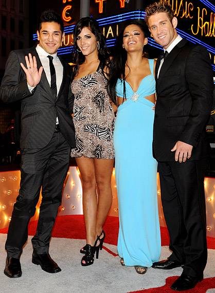 'The Real World: Cancun' cast steps off the sand and into the City for the 2009 MTV Video Music Awards in New York.