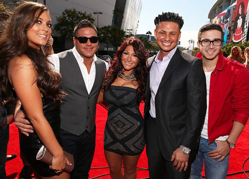 From the shore house to the red carpet at the 2012 MTV Video Music Awards, the 'Jersey Shore' cast always knows how to make an entrance.