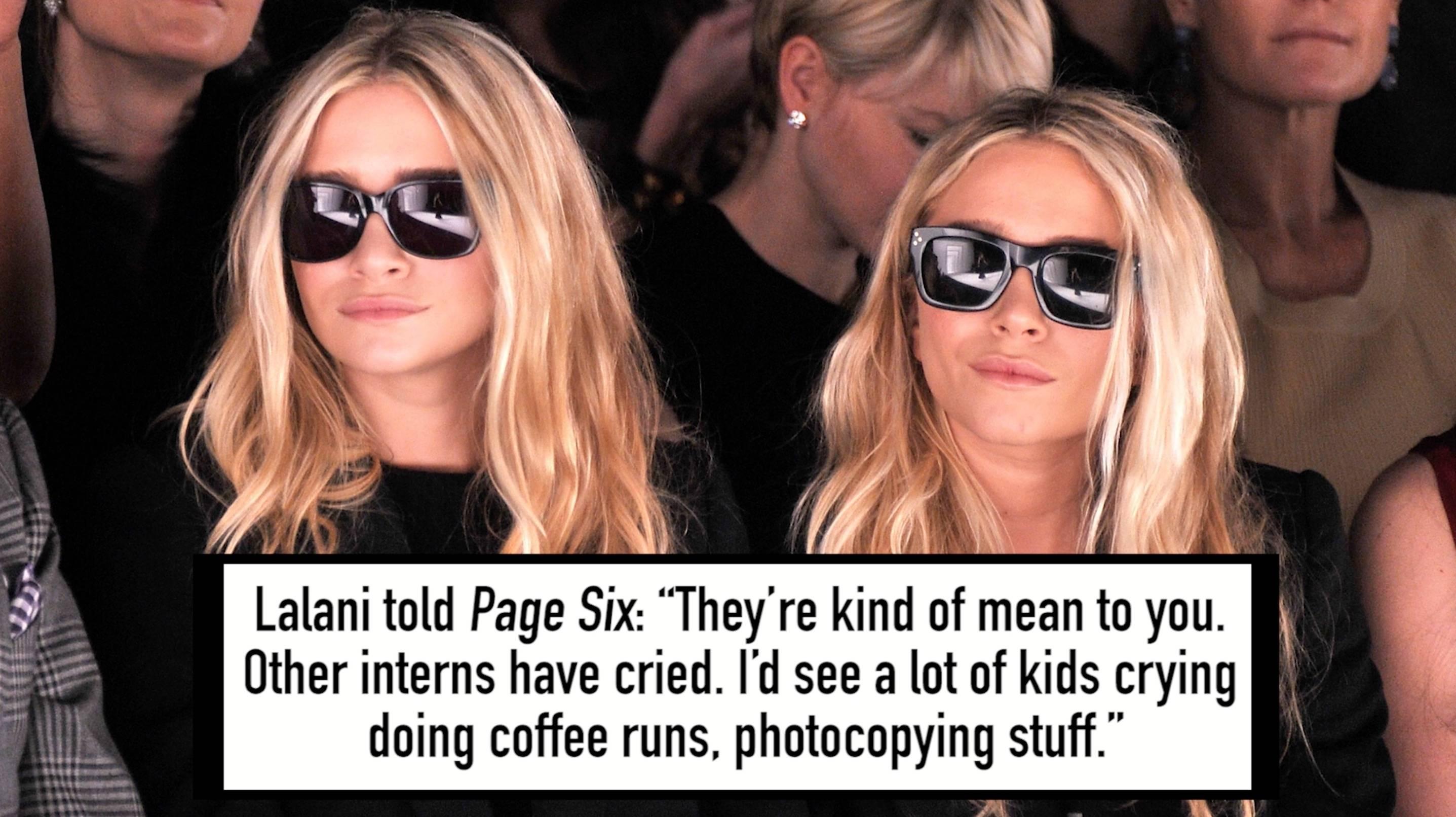 The Olsen Twins vs  Former Interns