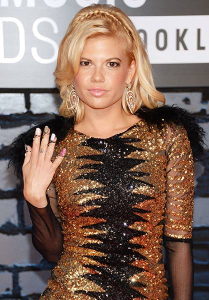 'Ridiculousness' star Chanel West Coast flaunts her love for glitter and sparkles at the 2013 MTV Video Music Awards.
