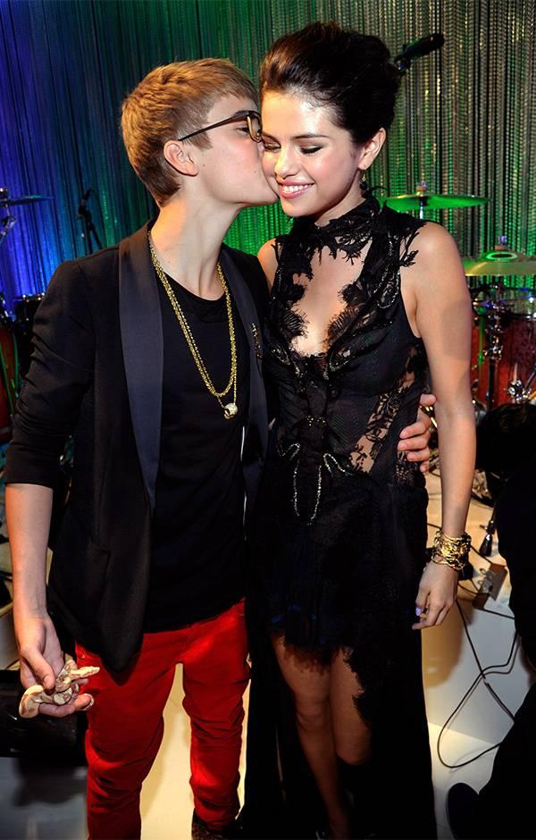 Justin Bieber and Selena Gomez at the 2011 VMAs.