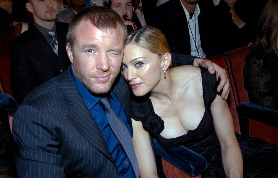Madonna and Guy Ritchie at the 2003 VMAs.