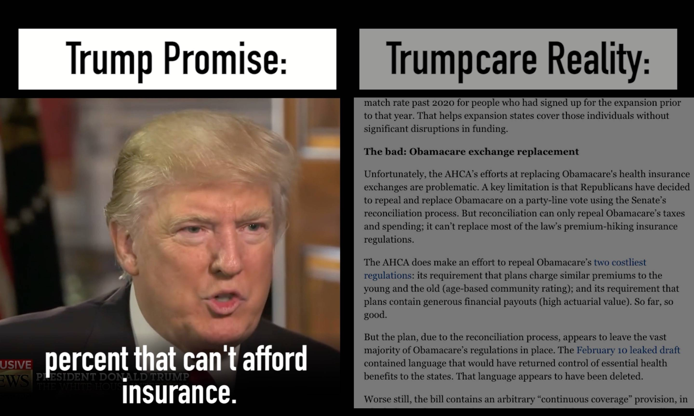 Trump has made a lot of promises about healthcare
