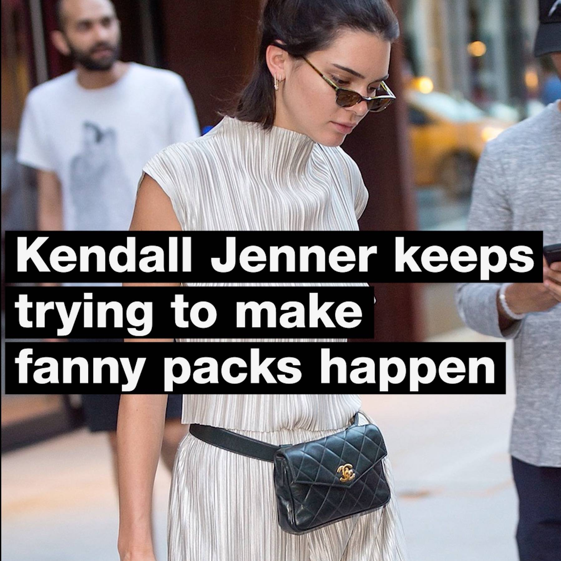 e94c70257535 Kendall Jenner Keeps Trying To Make Luxury Fanny Packs Happen - MTV News  (Video Clip) | VMA