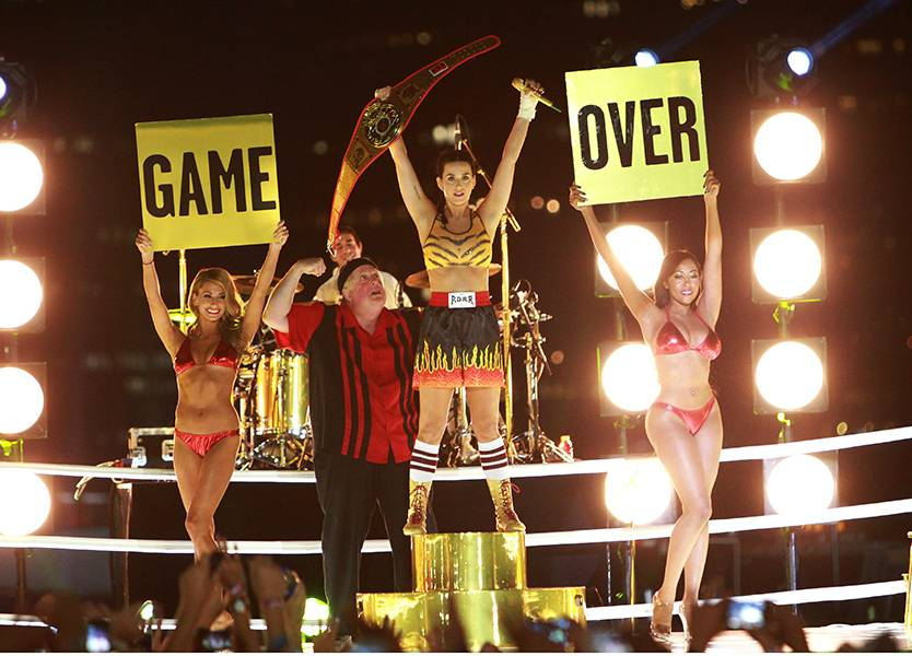 Katy Perry had a knockout show when she performed 'Roar' at the 2013 MTV VMAs.