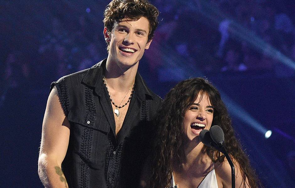 The night's cutest duo Camila Cabello and Shawn Mendes win for Best Collaboration.