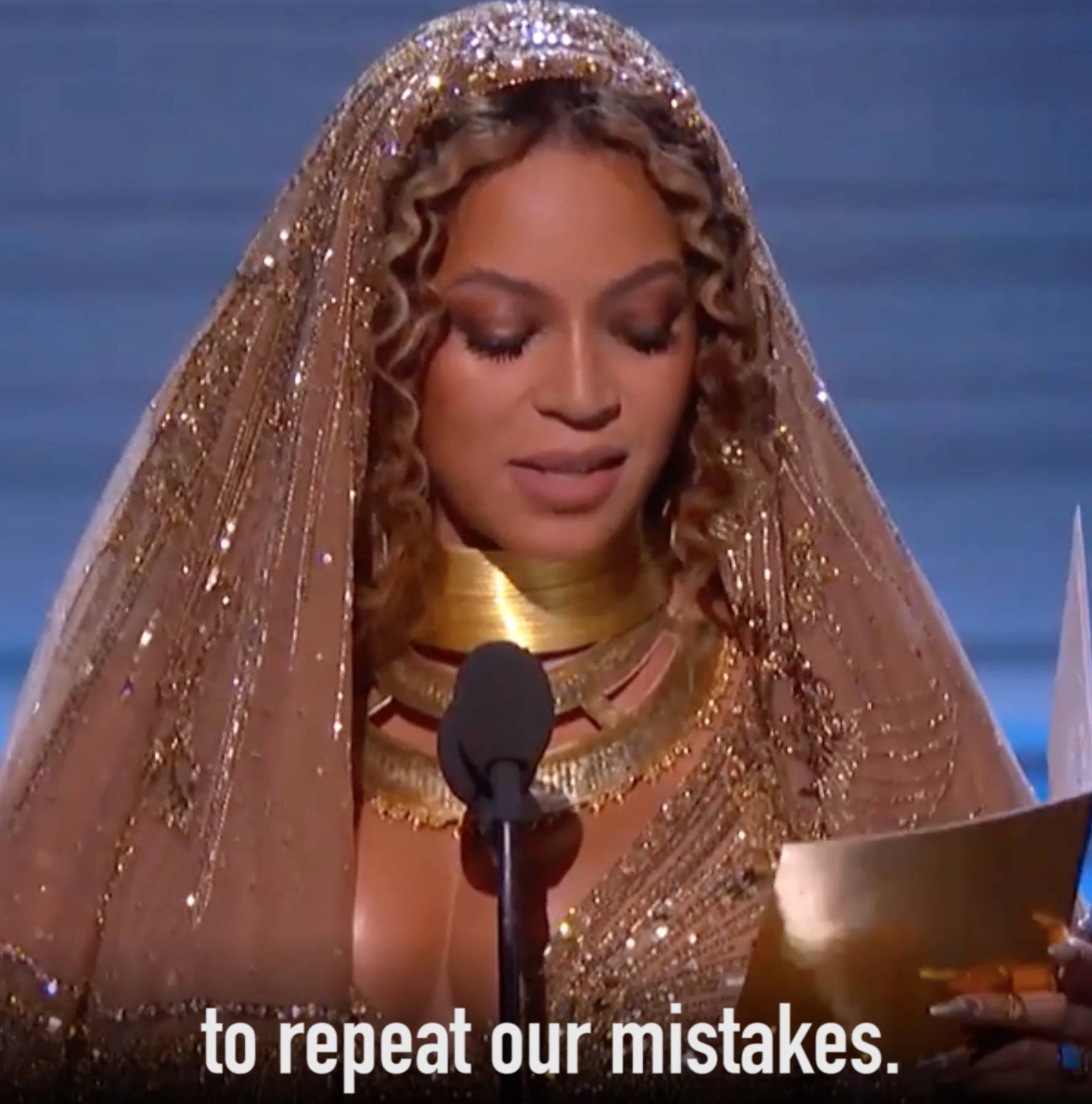 Beyoncé gave a fierce speech about children having black role models