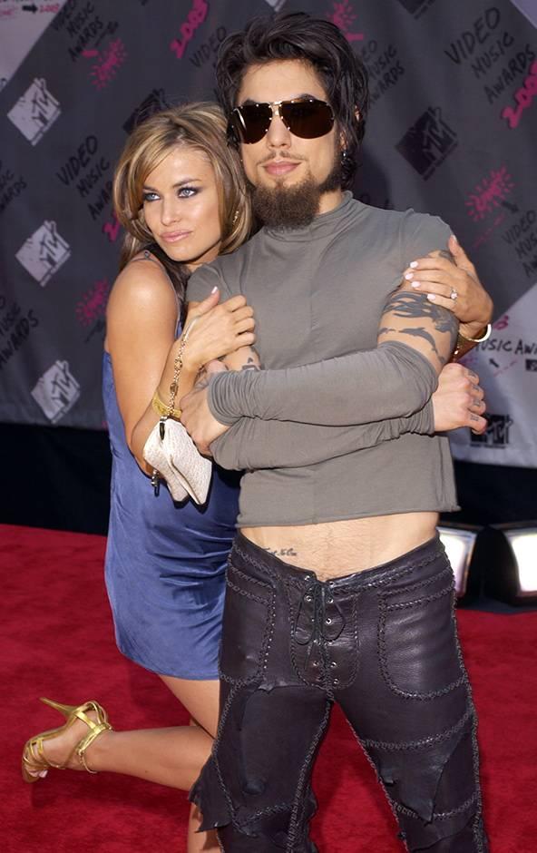 David Navarro and Carmen Electra at the 2003 VMAs.
