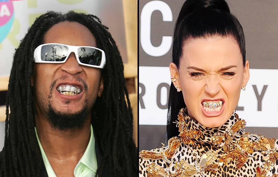 Let me see ya grills! Lil Jon may have rocked a mouth full of diamonds at the 2005 VMAs, but like most bling, it only gets better with time. Katy Perry proved just that when she nearly blinded photogs at the 2013 VMAs with her expensive grin