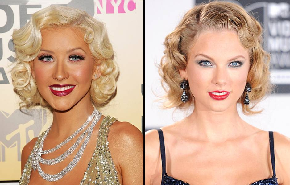 Old Hollywood glam will always be in vogue! Christina Aguilera debuted blonde curls and bright red lips at the 2006 VMAs and seven years later Taylor Swift arrived at the 2013 MTV VMAs showing off a similar beauty trend.