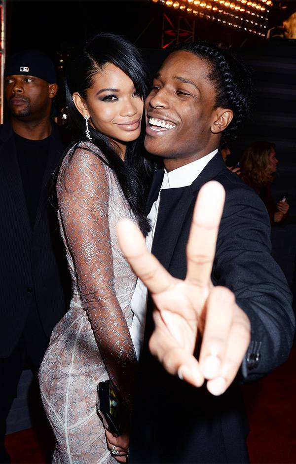 Supermodel Chanel Iman and rapper A$AP Rocky looked as cute as ever at the 2013 VMAs.