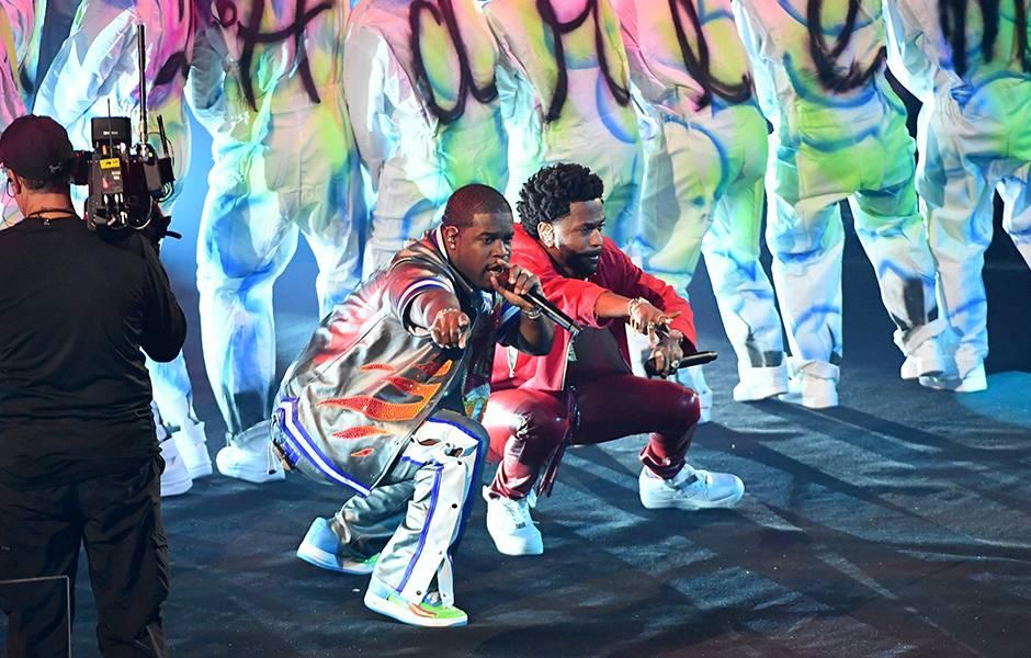 Big Sean and A$AP Ferg address their fans at the 2019 VMAs.
