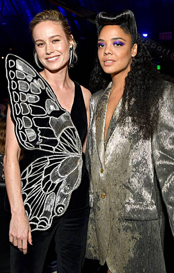 Movie & TV Awards 2019 | Behind The Scenes | Brie Larson and Tessa Thompson | 600x940