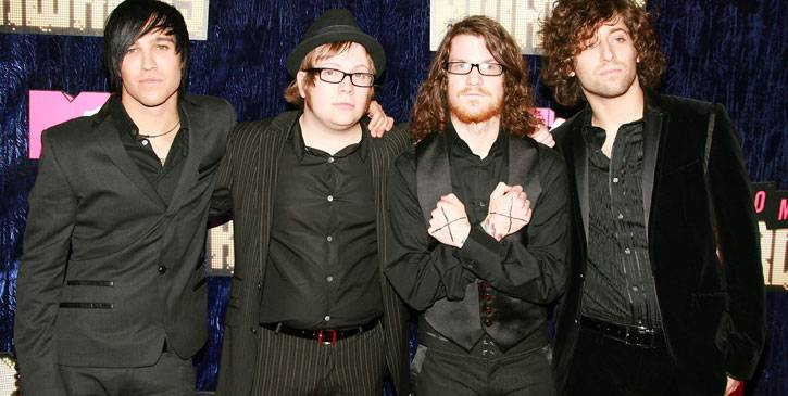 Sporting various combinations of black-on-black, Pete Wentz, Patrick Stump, Andy Hurley and Joe Trohman show that being in Fall Out Boy has its fashionable advantages at the 2007 VMAs.