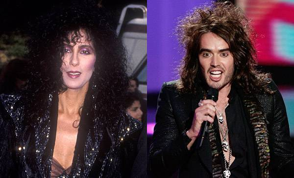 Cher's unmistakable style is still inspiring the looks of women <i>and</i> men years after her 1987 VMA appearance. VMA host Russell Brand pulls off big hair and tight leather in 2008.