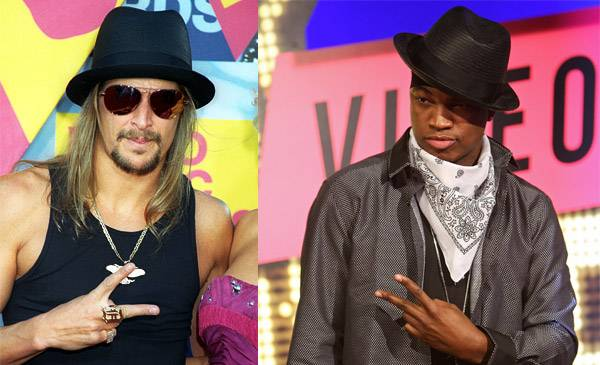 Ne-Yo's black fedora matches his peace sign pose so well at the 2007 VMAs that Kid Rock dons a black hat to accessorize his own peace sign pose the very next year.