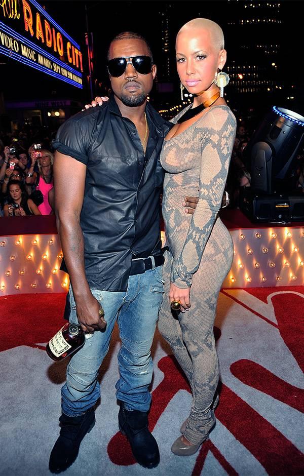 Kanye West and Amber Rose at the 2009 VMAs.