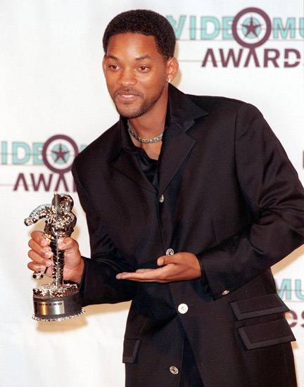"""Will Smith must have been talking about the Moonman he would receive at the 1998 MTV Video Music Awards when he wrote Best Male winner """"Just The Two Of Us."""""""