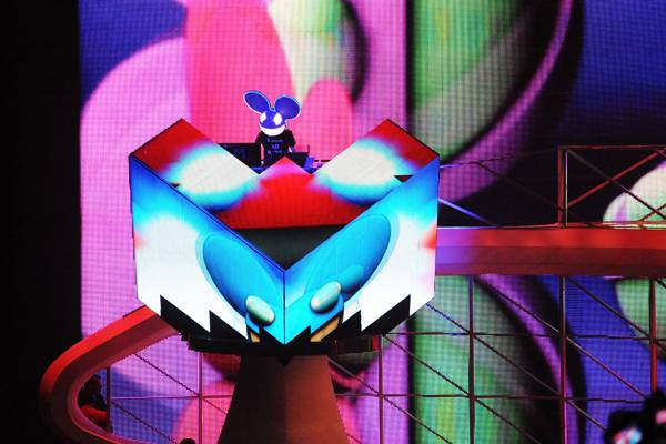 House Artist deadmau5 performs on stage during the 2010 MTV Video Music Awards.