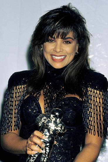 Paula Abdul proves she's as fierce as her outfit after nabbing four Moonmen at the 1989 MTV VMAs.