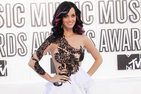Leave it to Katy Perry to turn heads in a sheer bodice that made us do a double-take at the 2010 VMAs.