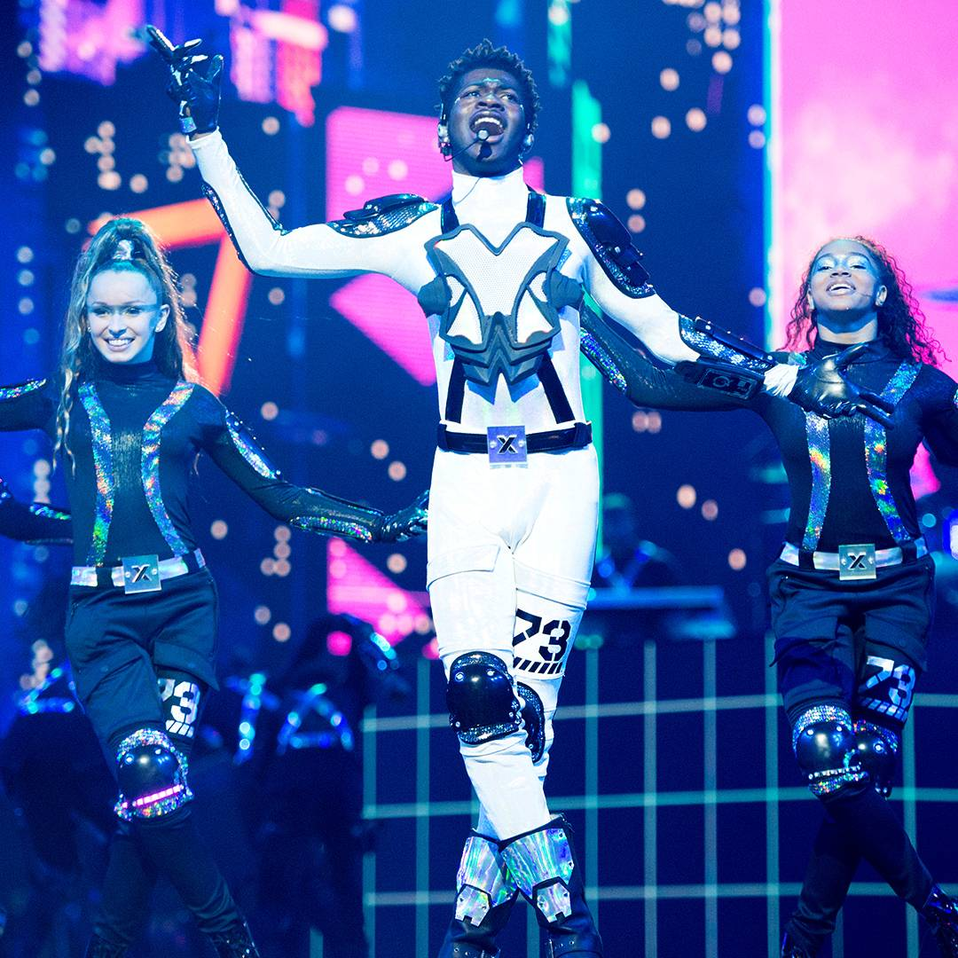 """Lil Nas X takes fans far into the future with a sci-fi-inspired performance of """"Panini."""""""
