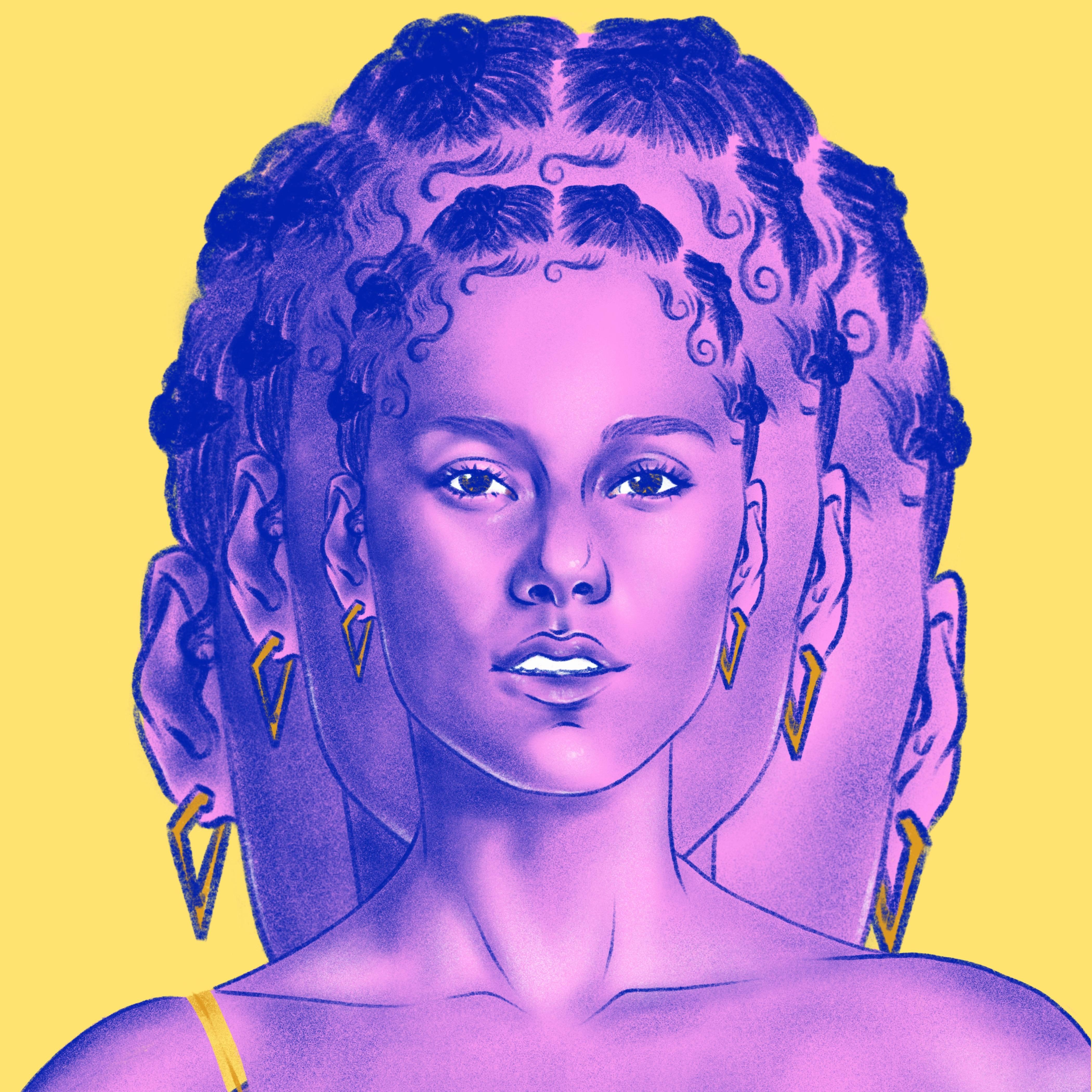 2020 VMA | Artist Spotlight Flipbook Alicia Keys by Rachelle Baker-Martin