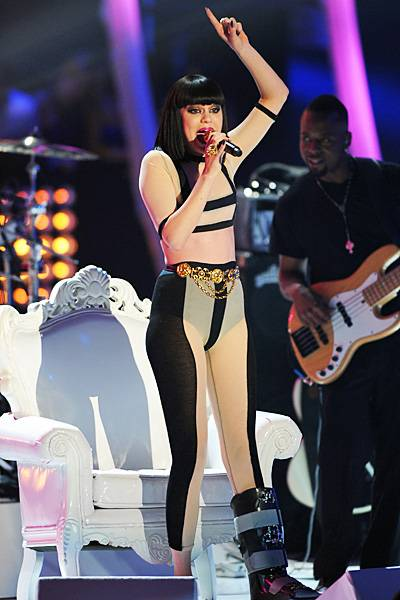"""As 2011 VMA House Artist, Jessie J performs sassy renditions of hits like """"Girls Just Want to Have Fun,"""" """"Firework"""" and """"Forget You"""" alongside her own smash songs."""