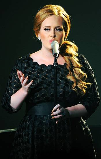 """Adele performs """"Someone Like You"""" on stage at the 2011 MTV Video Music Awards in Los Angeles."""