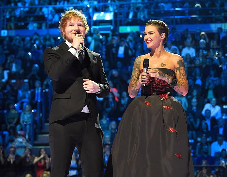 EMA 2015 | Past Hosts Ed Sheeran/Ruby Rose | 767x600