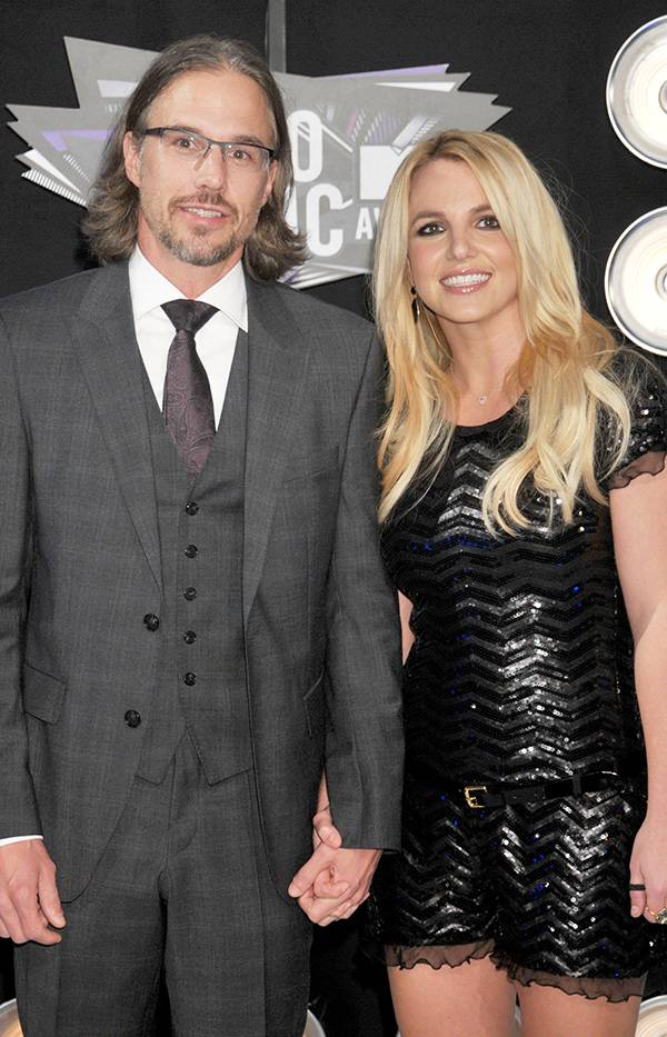 Jason Trawick and Britney Spears at the 2011 VMAs.