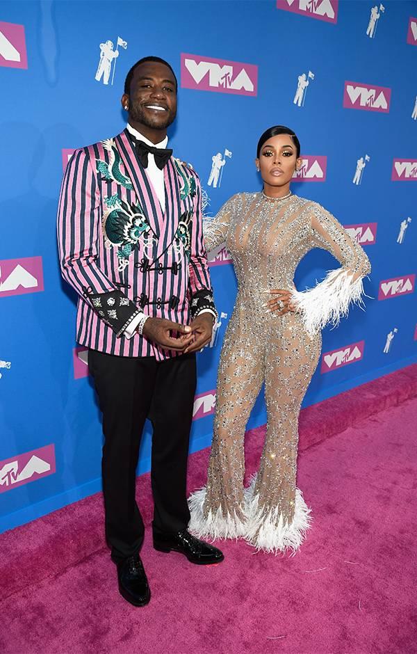 Newlyweds Gucci Mane and Keyshia Ka'oir brought their A+ fashion game to the 2018 VMAs red carpet.