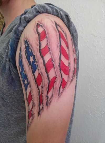 These Guys Have Merica Under Their Skin With Patriotic 3d Tattoos Mtv